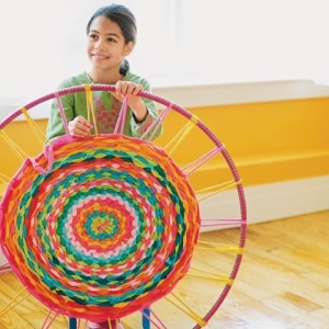 Source: http://spoonful.com/crafts/hula-hoop-rug