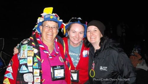 Mary, Dawn and Me at Bridging Friends Forever Camp (NB) 2013